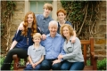 Family of 6 with teenagers smiling at Princeton University